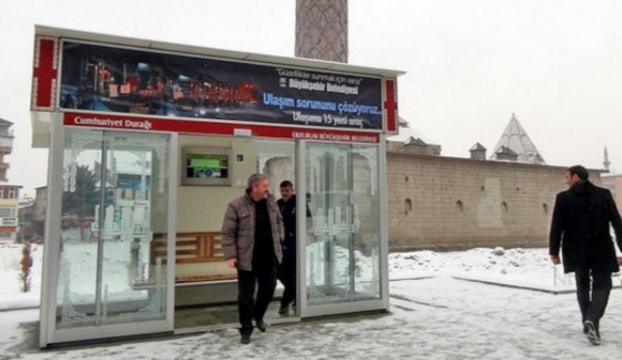 Erzurumlu klimalı durakları sevdi
