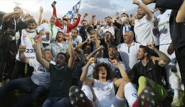 Büyükşehir Belediye Erzurumspor hem rakiplerini hem de Kovid-19u yenerek Süper Lige çıktı