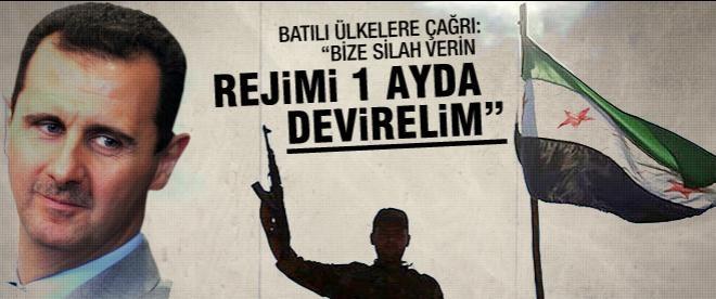 """ÖSO: """"Bize silah verin, rejimi 1 ay içinde devirelim"""""""