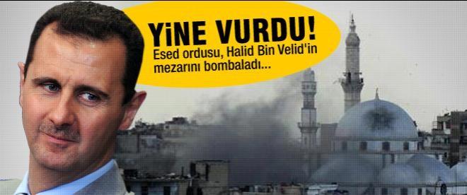 Esed ordusu, Halid Bin Velid'in mezarını bombaladı