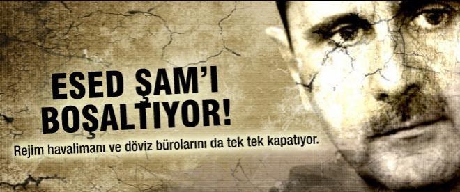 Esed Şam'ı boşaltıyor!