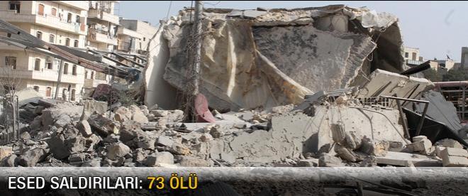 Esed saldırıları: 73 ölü