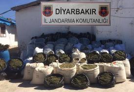 Diyarbakır'da 11 günde 1 ton 98 kilogram esrar ele geçirildi