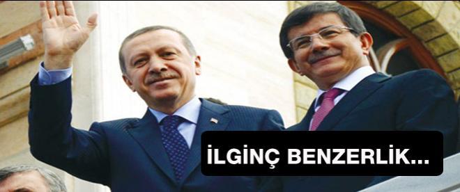Erdoğan ve Davutoğlu arasındaki ilginç benzerlik