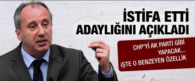 Muharrem İnce Kılıçdaroğlu'na rakip oldu