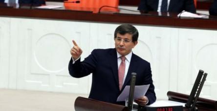 Bütçe görüşmelerinde Başbakan Davutoğlu konuşuyor