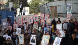 Kudüs'te Filistinli açlık grevi yapan tutuklulara destek