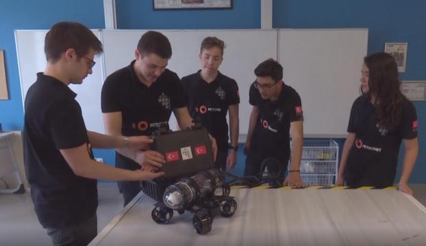Liselilerin şampiyon robotu, Türkiyeyi temsil edecek