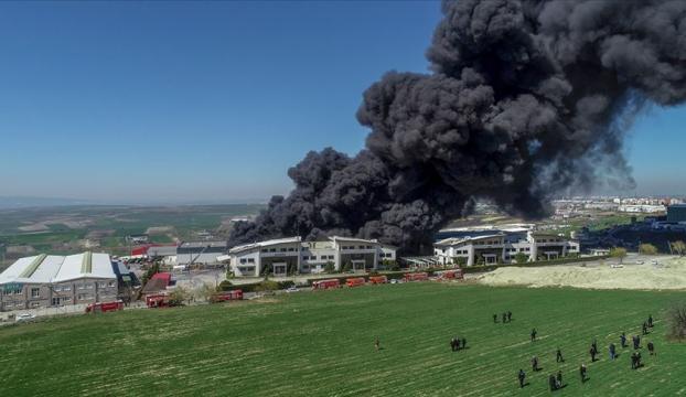 Arnavutköyde fabrika yangını