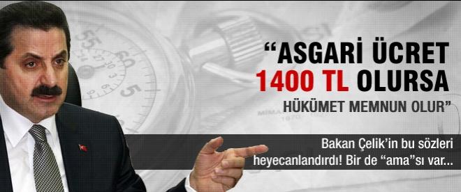 """""""Asgari ücret 1400 lira olursa..."""""""