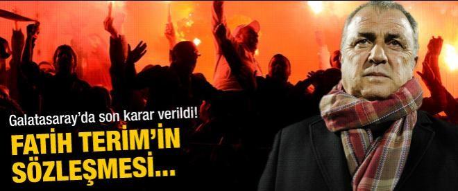 Galatasaray Fatih Terim ile sözleşmesini uzattı!