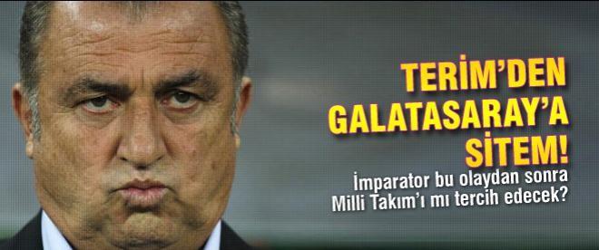 Terim'den Galatasaray'a sitem!