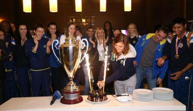 Fenerbahçe şampiyonluğu kutladı