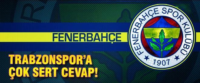 Fenerbahçe'den Trabzon'a çok sert açıklama