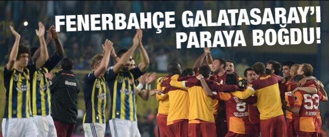 Fenerbahçe Galatasaray'ı paraya boğdu