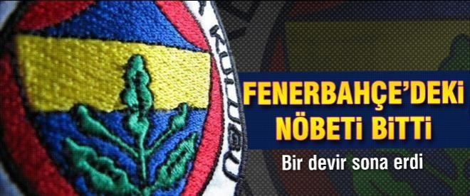 Fenerbahçe'deki nöbeti bitti
