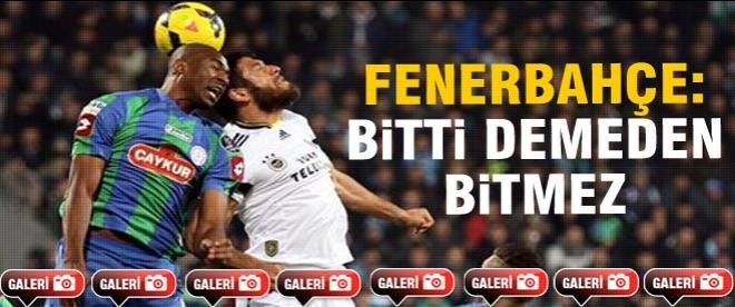 Fenerbahçe şoktan çıktı
