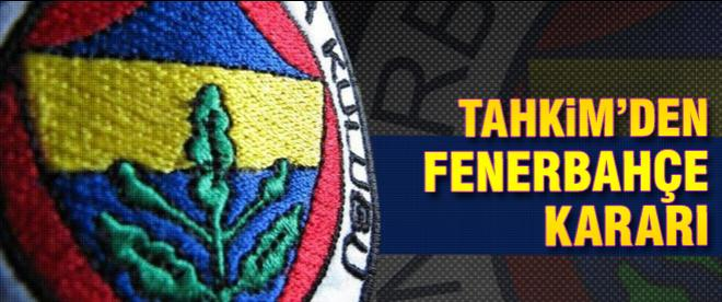Tahkim'den flaş Fenerbahçe kararı!