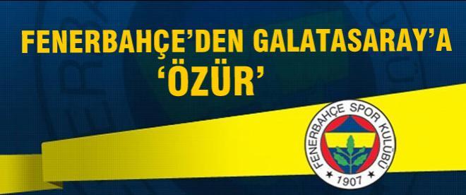 Fenerbahçe'den 'özür'