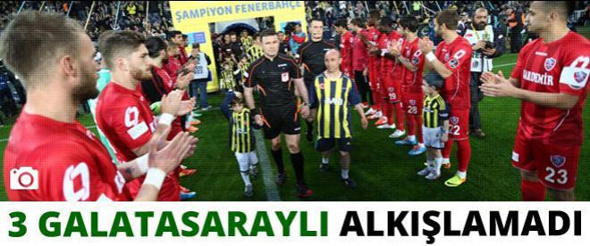 3 Galatasaraylı şampiyonu alkışlamadı