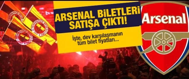 Fenerbahçe-Arsenal maçı bilet fiyatları