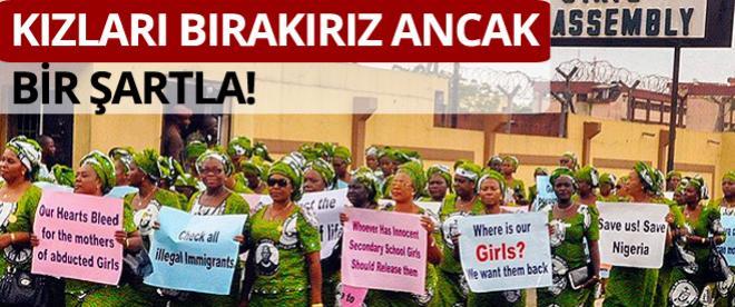 Boko Haram kızlara karşılık üyelerinin serbest bırakılmasını istedi