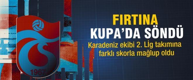 Trabzonspor'da hayal kırıklığı