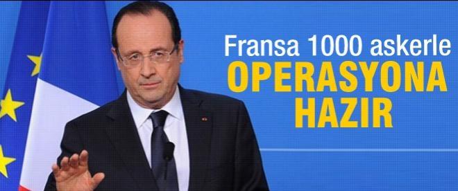 Fransa'da askeri operasyon hazırlığı
