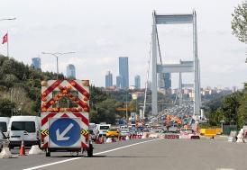 FSM Köprüsü'nde çalışma tamamlandı