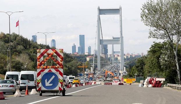 FSM Köprüsünde çalışma tamamlandı