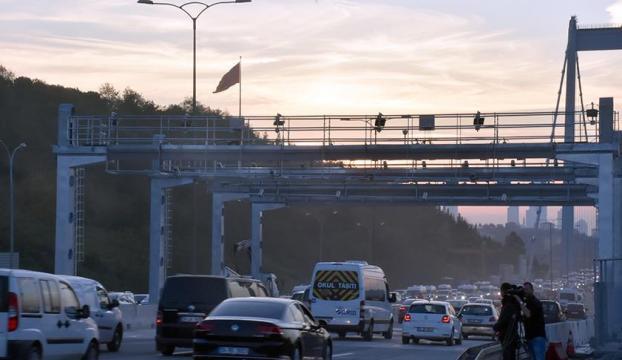 FSM Köprüsünde çalışmalar tamamlandı, şeritler kaldırıldı