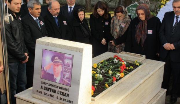 Gaffar Okkan, mezarı başında anıldı