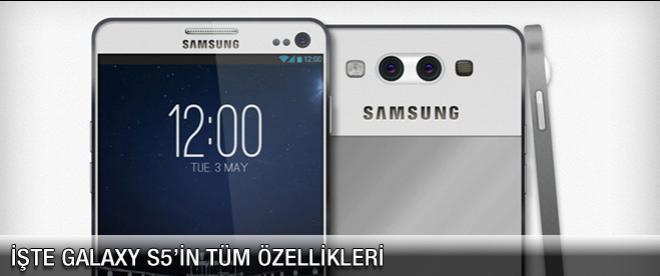 İşte Samsung Galaxy S5'in özellikleri!