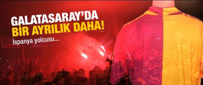 Galatasaray'da bir ayrılık daha...