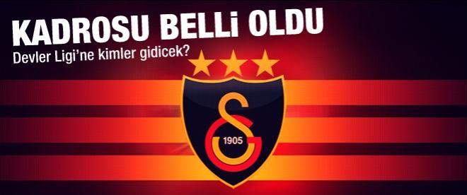 İşte Galatasaray'ın Şampiyonlar Ligi kadrosu
