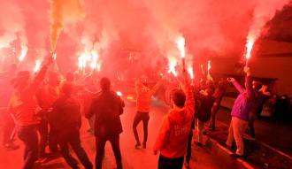 Galatasaray kafilesi Karabük'te böyle karşılandı