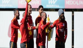 Galatasaray, derbi maçın hazırlıklarını sürdürdü
