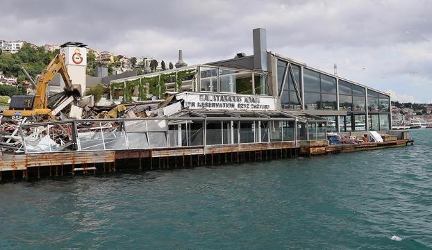 Galatasaray Adasında yıkım