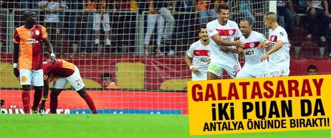 Galatasaray 2 puan daha bıraktı