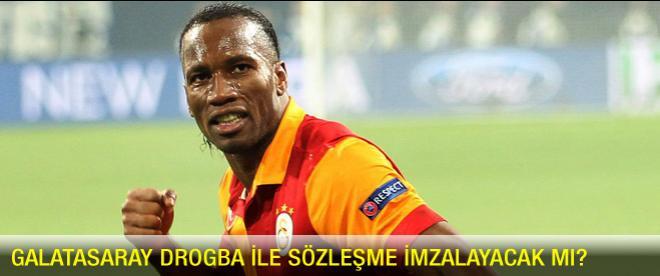 Galatasaray Drogba ile sözleşme imzalayacak mı?