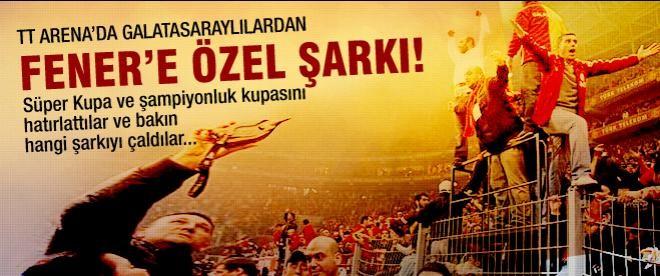 Arena'da Fenerbahçe'ye özel şarkı çalındı!