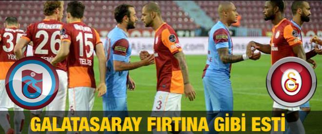 Galatasaray fırtına gibi esti
