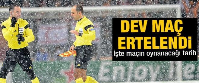 Galatasaray Juventus maçı ertlendi
