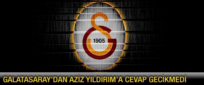 Galatasaray Kulübü'nden Aziz Yıldırım'a yanıt gecikmedi