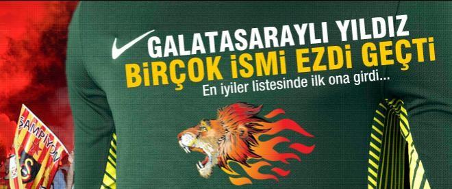 Galatasaraylı yıldız birçok ismi geride bıraktı
