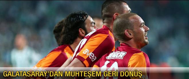 Galatasaray'dan muhteşem geri dönüş
