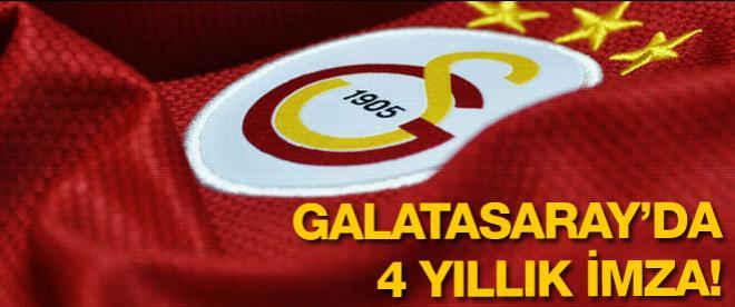 Galatasaray'da 4 yıllık imza!