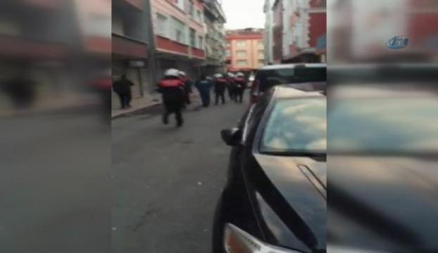 Gaspçı polisle çatıştı
