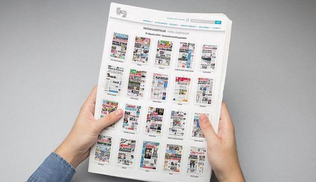 Gazetelerin ilk sayfalarına BİKin internet sitesinden ulaşılabilecek