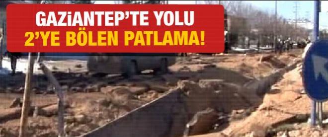 Gaziantep'te doğalgaz boru hattı patladı